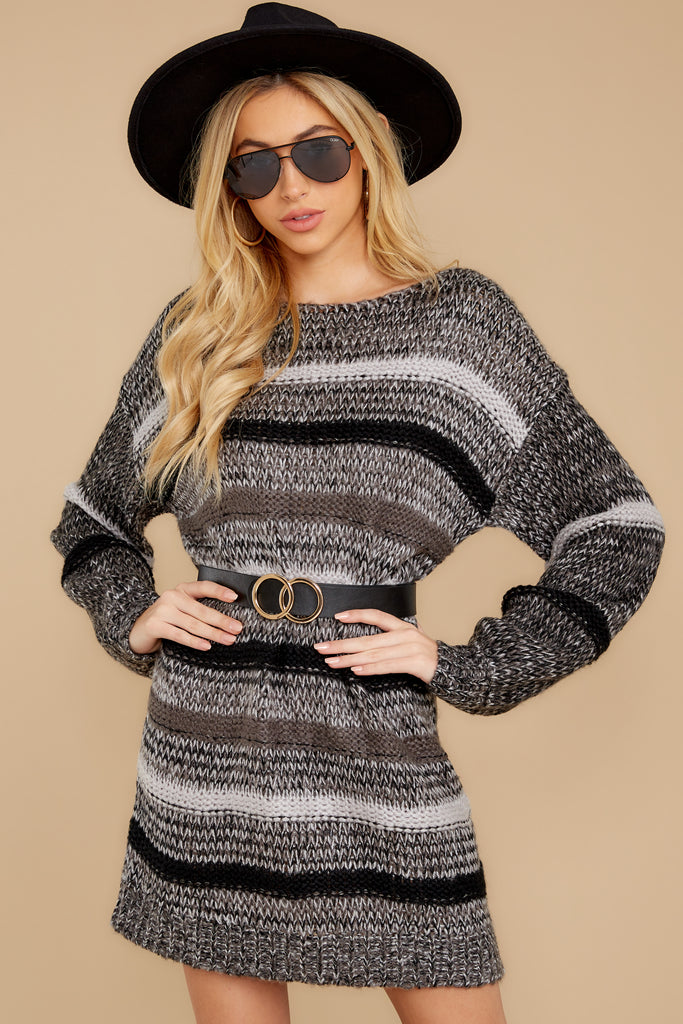 5 City Chic White Multi Sweater Dress at reddressboutique.com