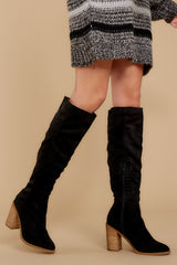 1 Standing Tall Black Boots at reddressboutique.com
