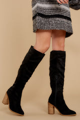 2 Standing Tall Black Boots at reddressboutique.com