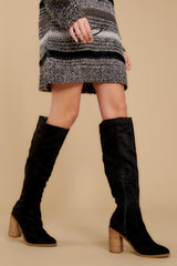 3 Standing Tall Black Boots at reddressboutique.com