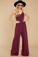 V-neck Smocked Open-Back Princess Seams Waistline Evening Dress/Jumpsuit