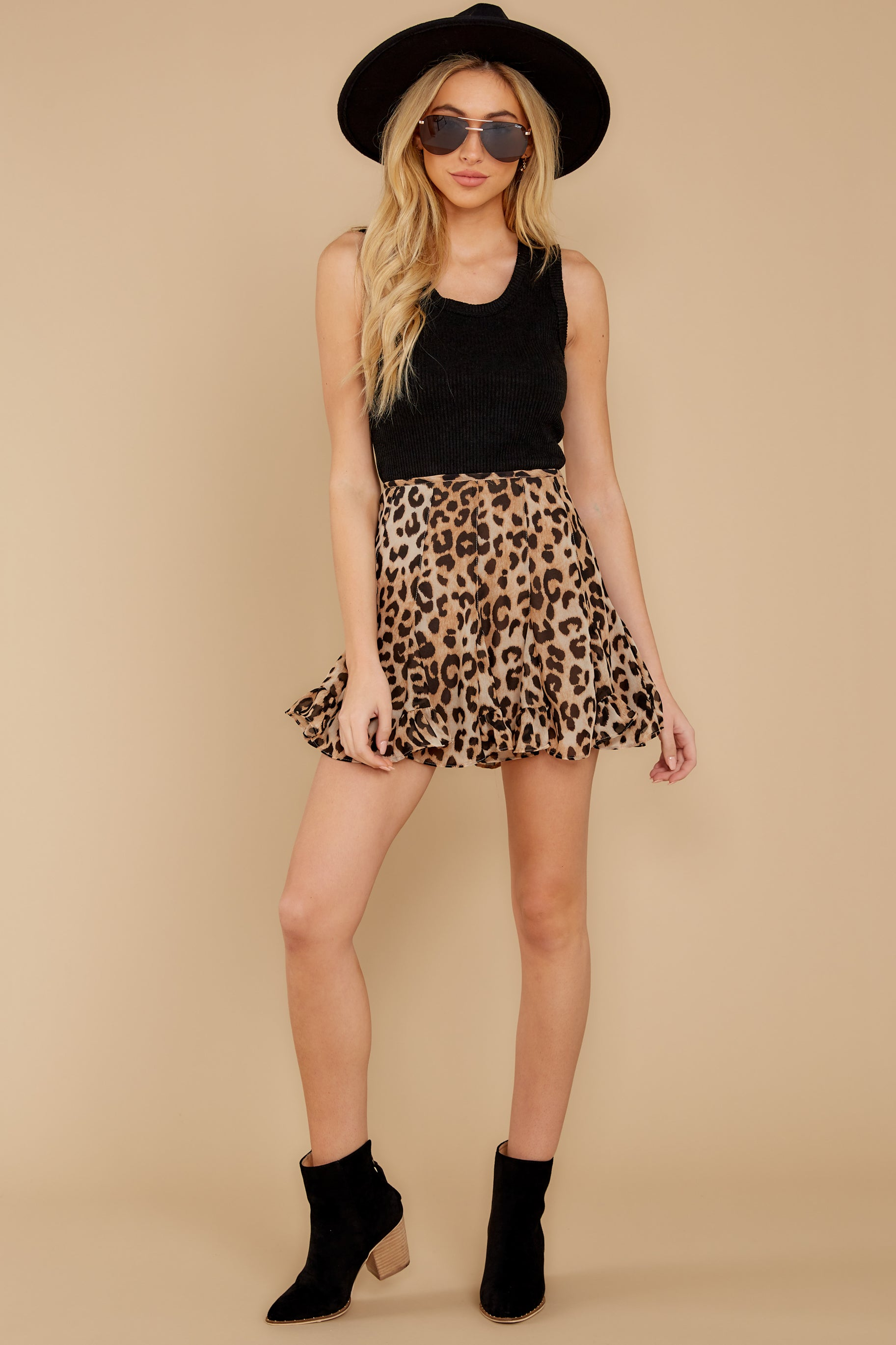 7 With Sass Leopard Print Skirt at reddress.com