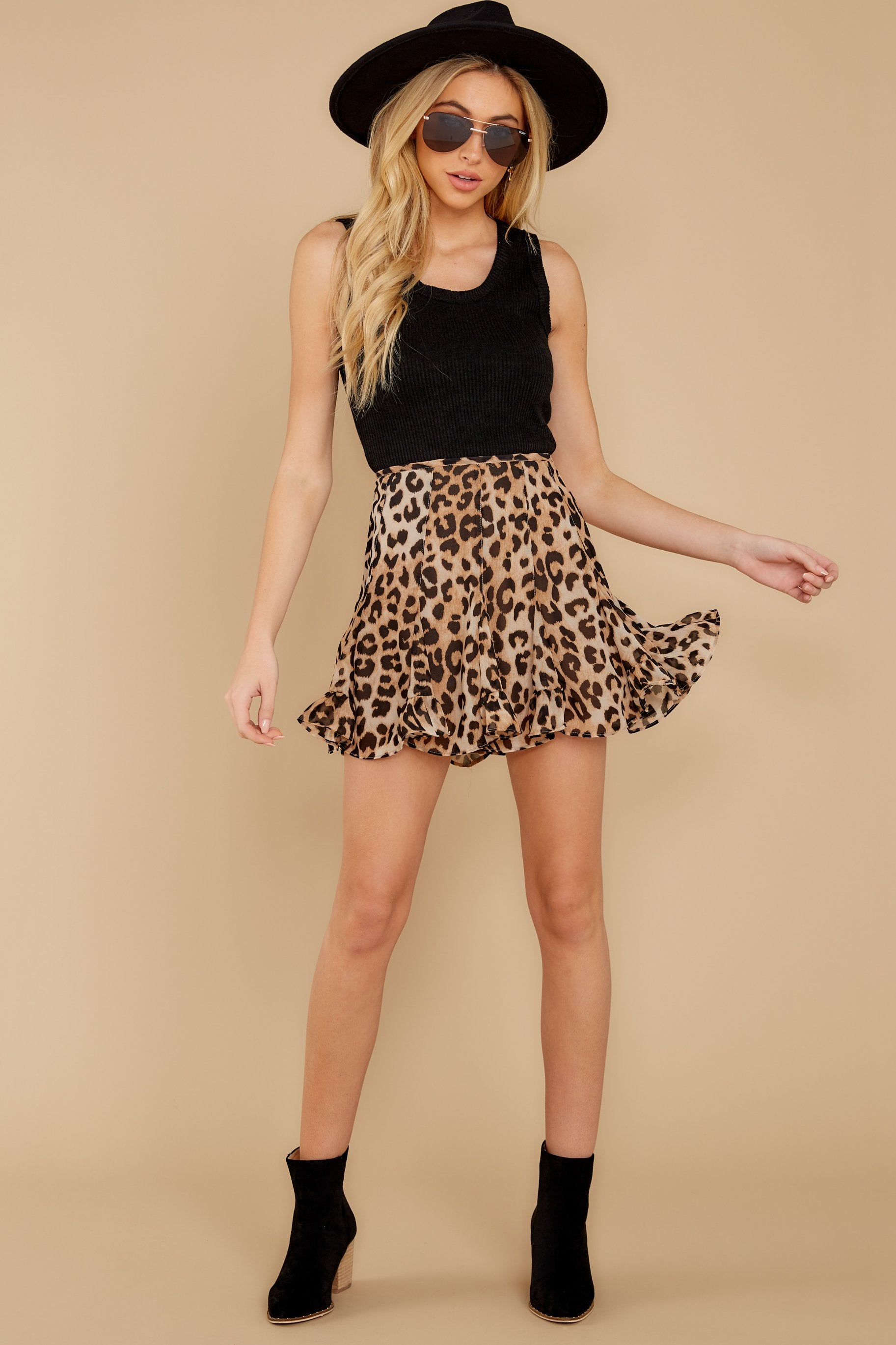 6 With Sass Leopard Print Skirt at reddress.com