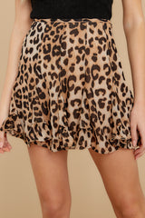 4 With Sass Leopard Print Skirt at reddress.com