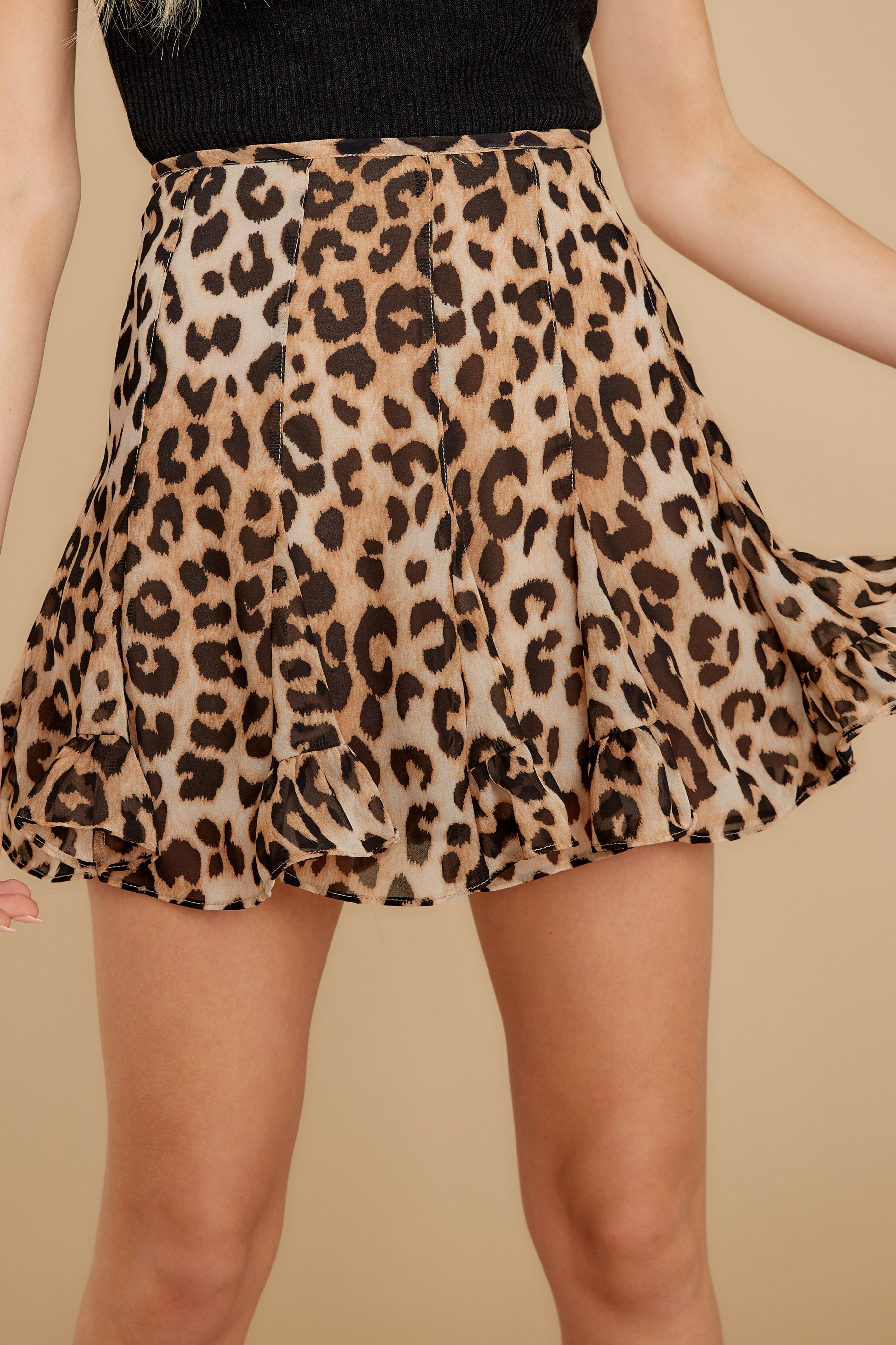 1 With Sass Leopard Print Skirt at reddress.com