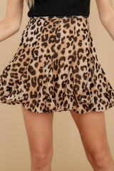 5 With Sass Leopard Print Skirt at reddress.com