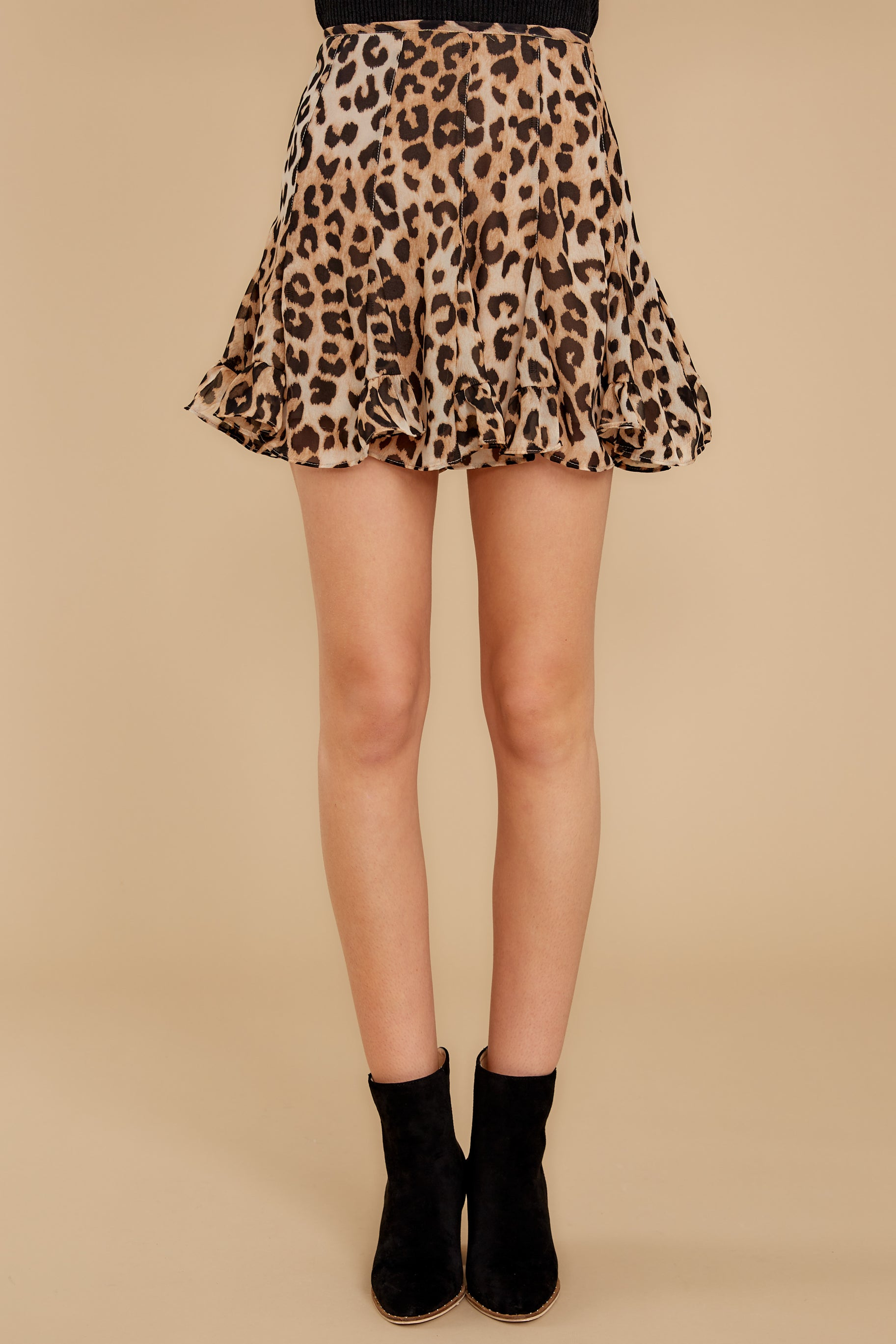 2 With Sass Leopard Print Skirt at reddress.com