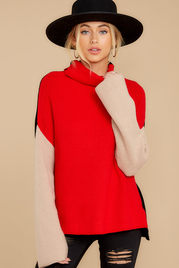 1 As Long As You Love Me Red Sweater at reddress.com
