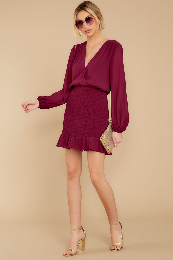 1 Sweet Persuasion Wine Dress at reddressboutique.com