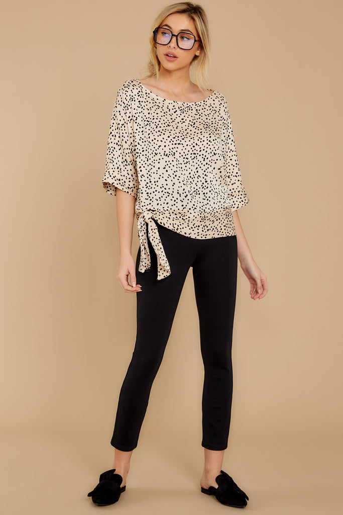 1 On Alert Cream Cheetah Print Top at reddress.com