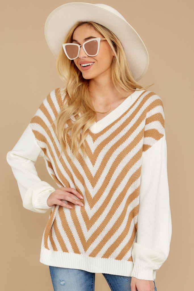1 Timing Is Everything Caramel Sweater at reddressboutique.com