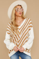 7 Will You Stay Ivory And Caramel Sweater at reddress.com