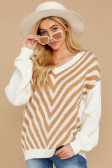 8 Will You Stay Ivory And Caramel Sweater at reddress.com