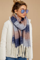 2 Local Forecast Blue And Pink Multi Scarf at reddress.com