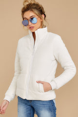 5 The Champagne Mist Corduroy Puffer Jacket at reddressboutique.com