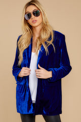 6 Now Introducing Blue Velour Blazer at reddress.com