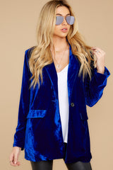 7 Now Introducing Blue Velour Blazer at reddress.com