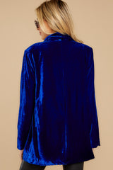 8 Now Introducing Blue Velour Blazer at reddress.com