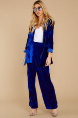 2 Now Introducing Blue Velour Blazer at reddress.com