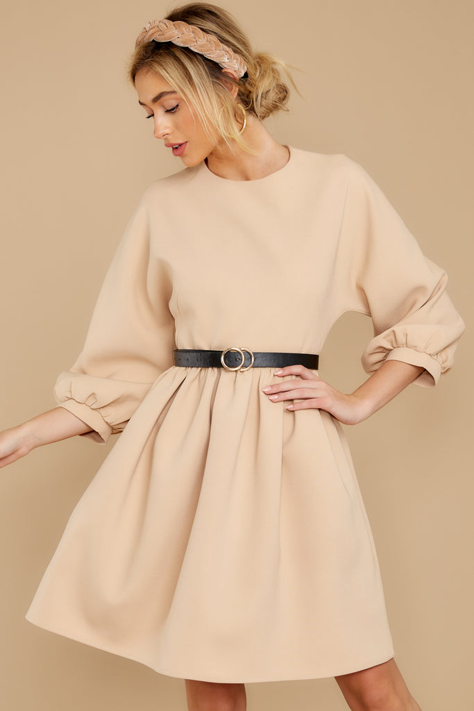 4 See It Happen Beige Dress at reddress.com