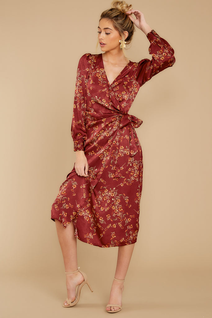 1 Talk About Love Burgundy Dress at reddress.com