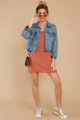7 Think Of Me Light Salmon Dress at reddress.com