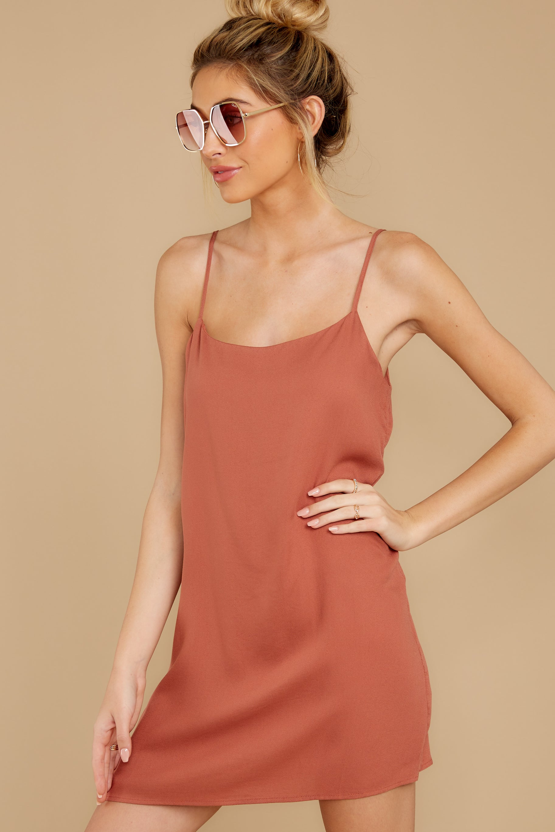 1 Think Of Me Light Salmon Dress at reddress.com
