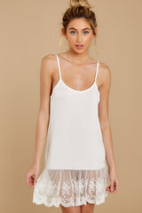 2 Perfect Duet White Lace Slip Dress at reddressboutique.com