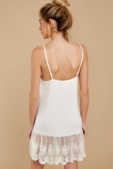 4 Perfect Duet White Lace Slip Dress at reddressboutique.com