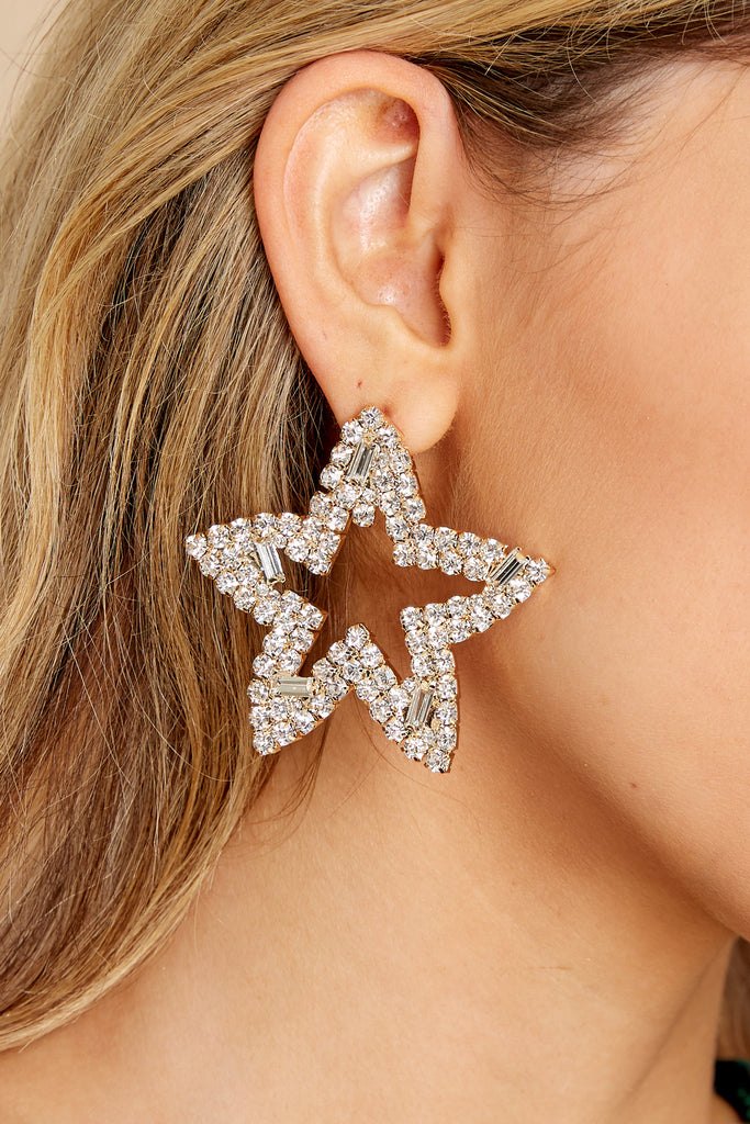 1 Waiting On You Gold Star Earrings at reddress.com