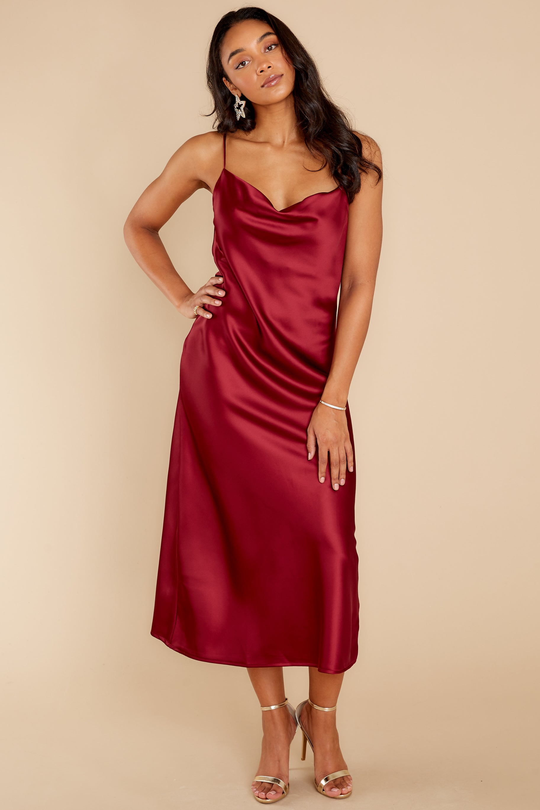 1 Dash Away All Burgundy Maxi Dress at reddress.com
