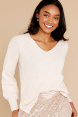 10 New Traditions Ivory Sweater at reddress.com