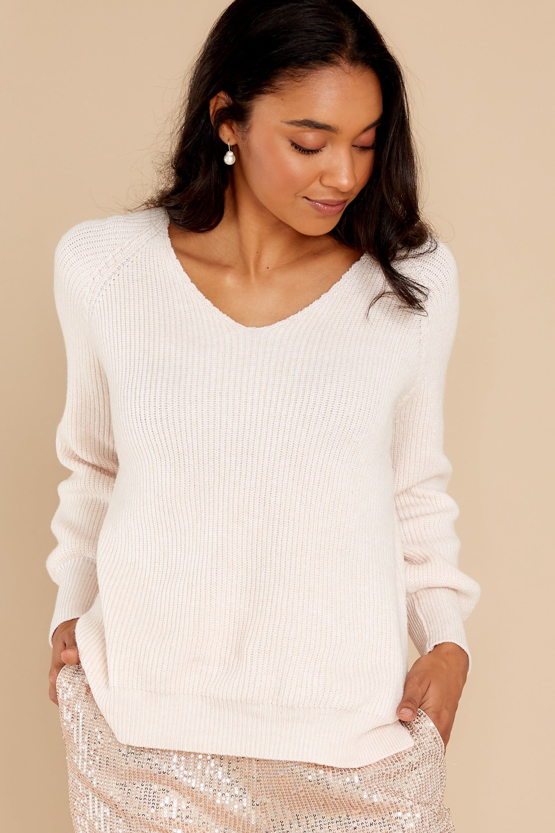 12 New Traditions Ivory Sweater at reddress.com