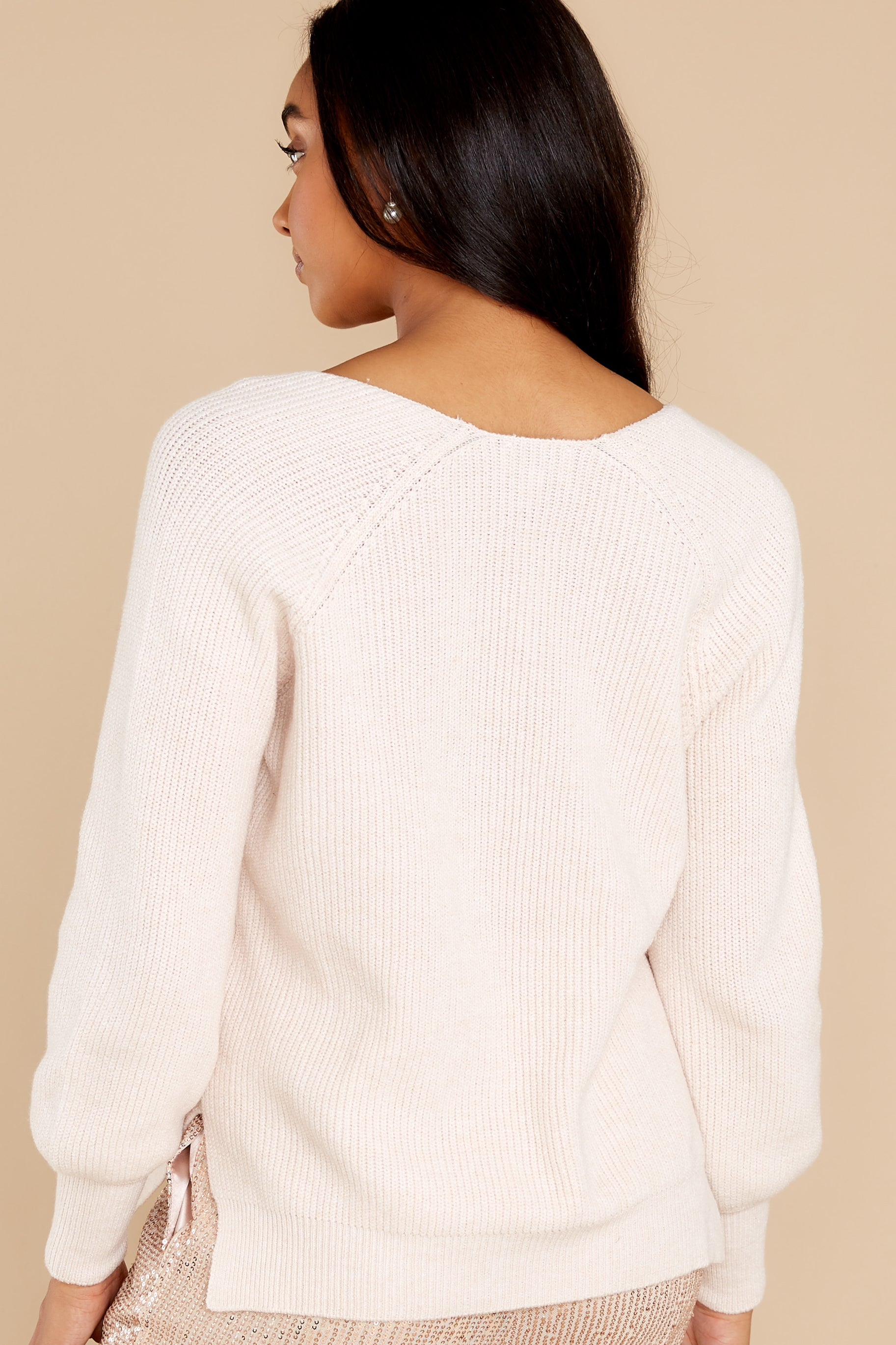 14 New Traditions Ivory Sweater at reddress.com