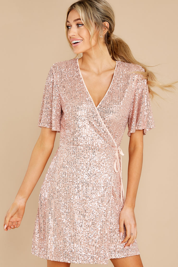 1 Twinkle And Sparkle Pink Sequin Dress at reddress.com