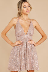 2 Toast Worthy Rose Gold Sequin Dress at reddress.com