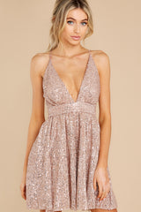 8 Toast Worthy Rose Gold Sequin Dress at reddress.com