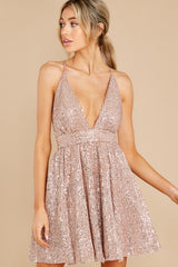 7 Toast Worthy Rose Gold Sequin Dress at reddress.com