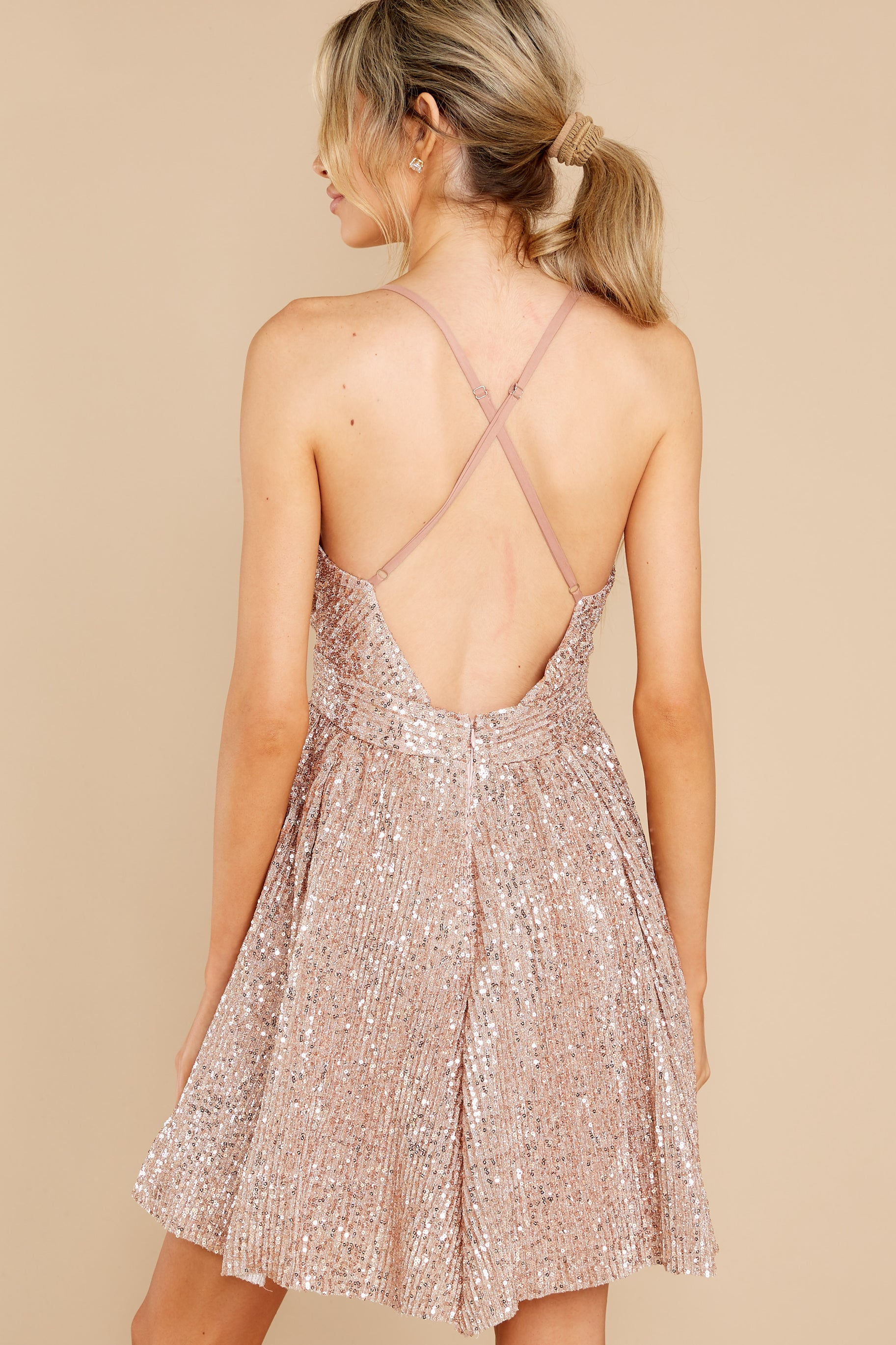 10 Toast Worthy Rose Gold Sequin Dress at reddress.com
