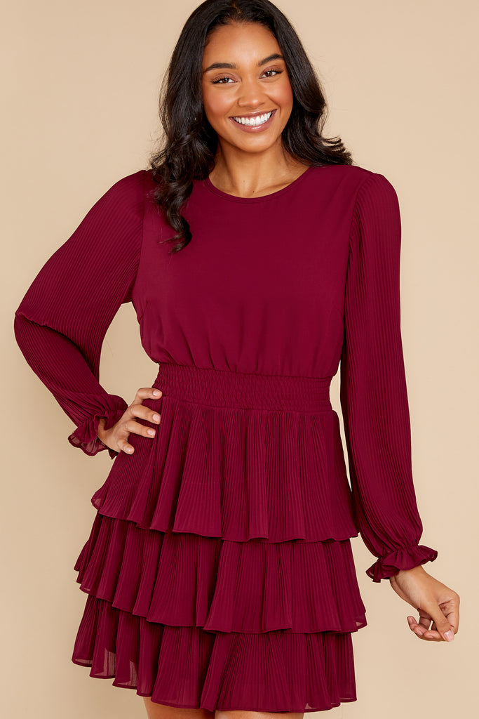 1 Charmed Occasion Wine Dress at reddress.com