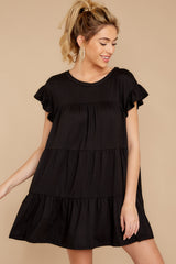 7 Sweet Persuasion Black Dress at reddressboutique.com
