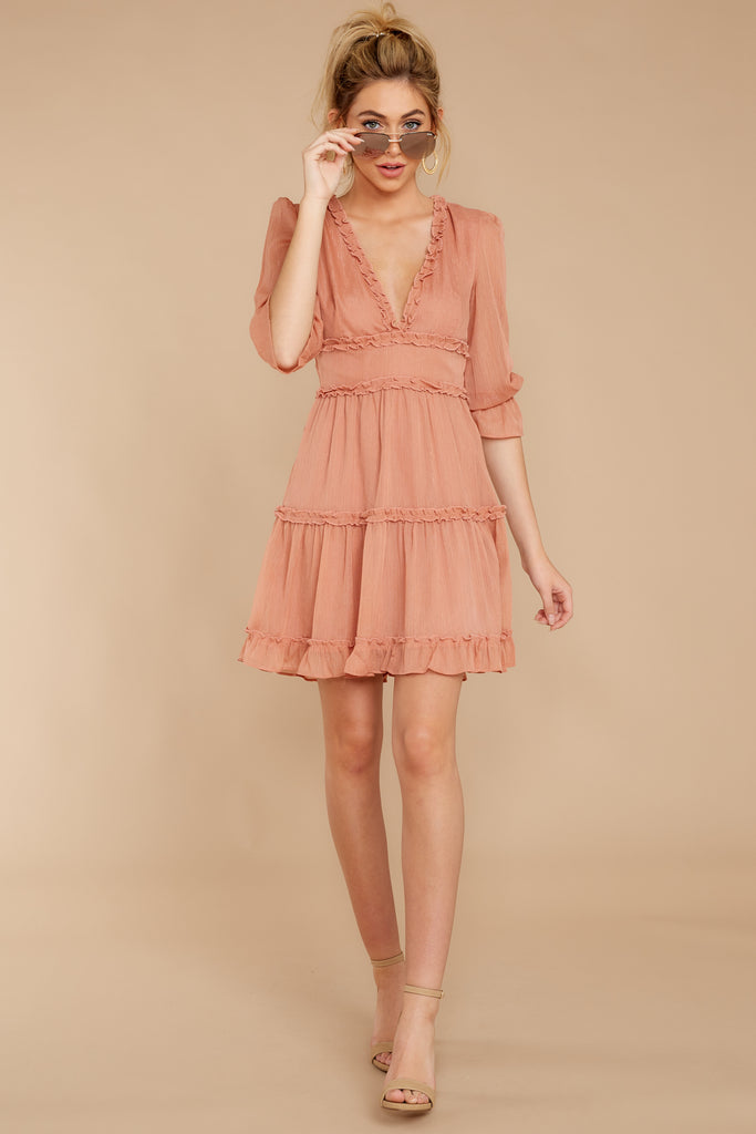 Read The News Ivory Blush Dress