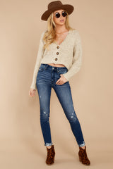 3 Heartbeat Away Sand Beige Crop Cardigan at reddressboutique.com