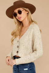 1 Heartbeat Away Sand Beige Crop Cardigan at reddress.com