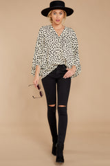 2 On Alert Cream Cheetah Print Top at reddress.com