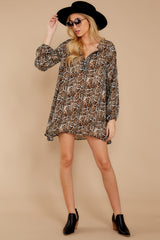 1 Go Out In Style Brown Python Print Dress at reddressboutique.com