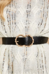 3 Bamboozle Them All Black Belt at reddressboutique.com