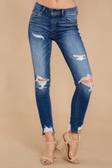 1 Not Going Back Medium Wash Distressed Skinny Jeans at reddress.com