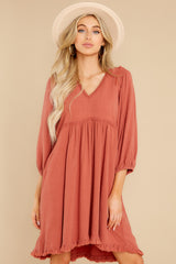 2 Leave Them Frayed Brick Dress at reddress.com