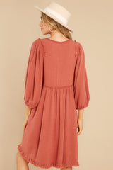 6 Leave Them Frayed Brick Dress at reddress.com